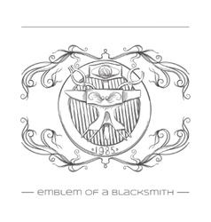 Emblem Of a Blacksmith vector image vector image