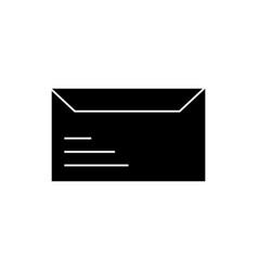 envelope icon sign o vector image