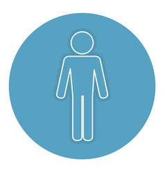 Man silhouette isolated icon vector