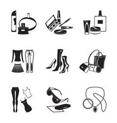 Women fashion garments vector image vector image