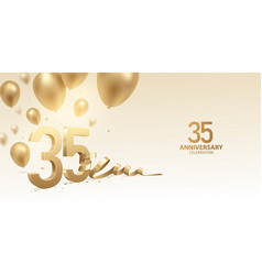 35th anniversary celebration background vector image
