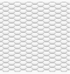 3d like mesh honeycomb white texture vector image