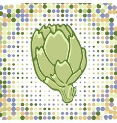 A colorful of fresh artichoke vector image