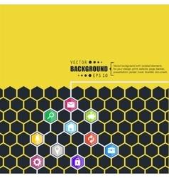Abstract creative concept hexagon network vector