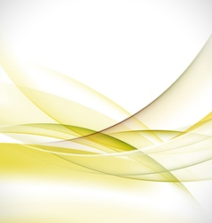 Abstract elegant green wave background vector