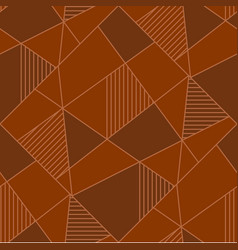 Abstract geometric figures seamless pattern vector