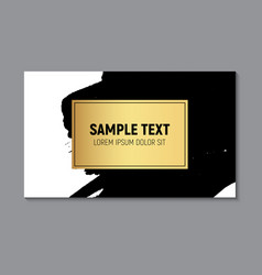 abstract paint glittering textured business card vector image