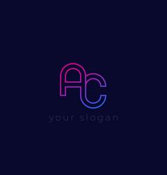 Ac logo minimal design vector