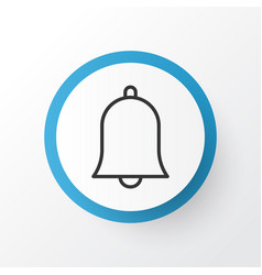 Alarm icon symbol premium quality isolated bell vector