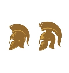 Ancient spartan helmet with feathered crest vector
