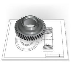 Auto Spare Part vector image