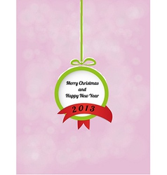 ball with Merry Christmas and Happy New Year and vector image