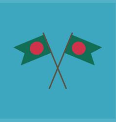 bangladesh flag icon in flat design vector image