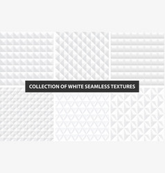 Beautiful decorative textures - white seamless vector