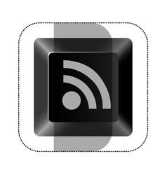 black button wife icon vector image