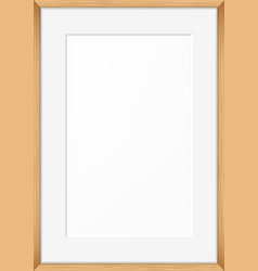 Blank picture frame template vector