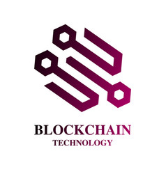 blockchain cryptocurrency logo modern computer vector image