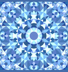 blue seamless abstract triangle mosaic tile vector image