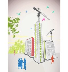 business people high rise vector image