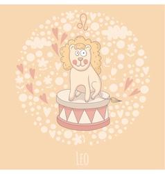 Cartoon of the lion Leo vector
