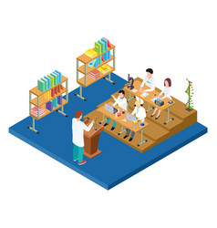 Chemistry lecture isometric medical vector