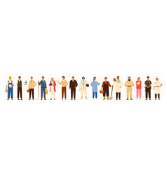 collection of men and women of various occupations vector image