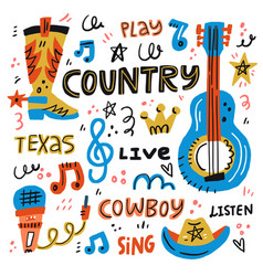 Country music vector