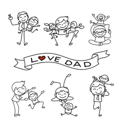 dad vector image