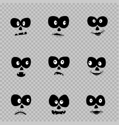 day of the dead eyes set vector image