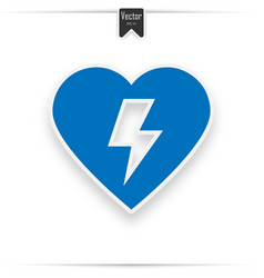 Defibrillator icon blue aed vector