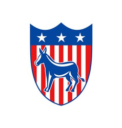 Democrat Donkey Mascot vector