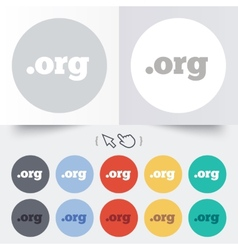 Domain ORG sign icon Top-level internet domain vector