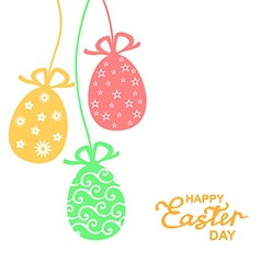 Easter lace color vector