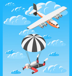 Extreme sports isometric background vector