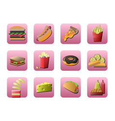 flat icon about fastfood design vector image