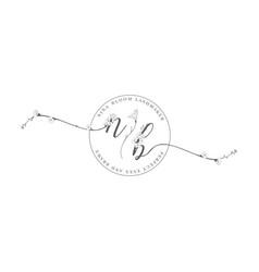 Floristic feminine brand logo template vector