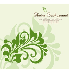 flower background vector image