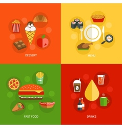 Food composition flat vector image