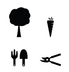 Gardening tools and farming equipment icons vector