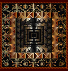 geometric 3d greek panel pattern ornate vector image