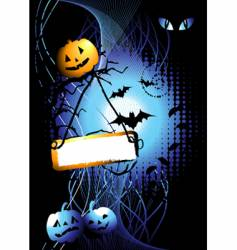 halloween night background vector image