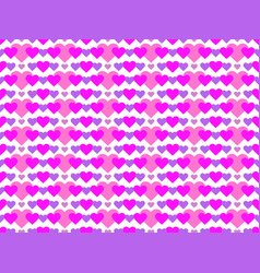 hearts seamless pattern happy valentines day 14th vector image