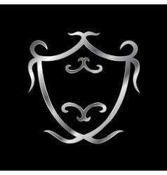 Heraldic shield logo vector image