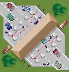 highway toll vector image