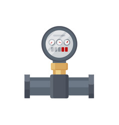 Home water meter icon part of tube and pipeline vector
