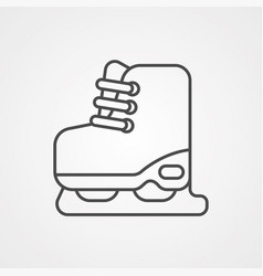 ice skate icon sign symbol vector image