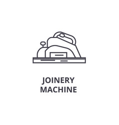 Joinery machine line icon sign vector