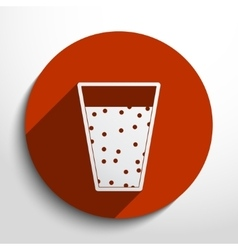 juice glass vector image