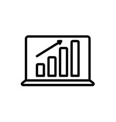 Laptop profits graphics vector