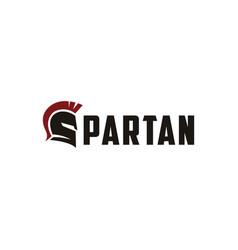 letter s for spartan logo vector image